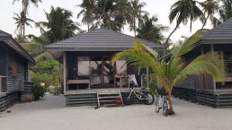 Bungalow mit Meerblick auf den Malediven